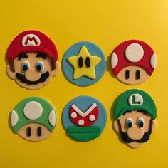 12 Mario and Luigi Cupcake Toppers-Fondant