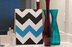 the pink smash box: how to paint chevron stripes