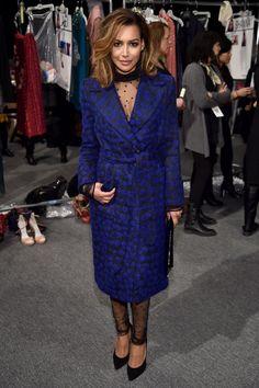 Pin for Later: Le Meilleur de la Fashion Week de New York Se Trouvait au Premier Rang Naya Rivera Au défilé Monique Lhuillier.