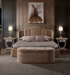 Colorful Furniture Ideas That'll Bring Summery Vibes To Your Design - Luxury Bedroom Furniture - Luxury Bedroom Furniture, Luxury Bedroom Design, Master Bedroom Design, Luxury Home Decor, Home Decor Bedroom, Master Bedrooms, Luxury Bedding, Bedding Decor, Queen Bedroom
