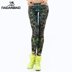 Nadanbao wholelsales新しいファッション女性レギンス3dプリントカラーleginsレイ蛍光レギンスパンツレギンスための女性