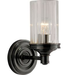 Visual Comfort Alexa Hampton Ava 1 Light Bath Wall Light in Bronze AH2200BZ-CG #visualcomfort #lightingnewyork #lighting