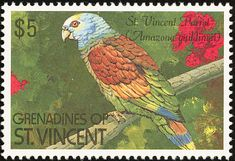 St. Vincent Amazon stamps - mainly images - gallery format