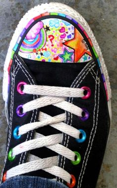 fun with sharpies, I doodle on everything me, my shoes, my jeans, my nails my kids.