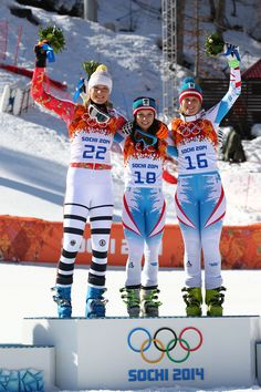 Alpine Skiing - Women's Super-G - Medallists