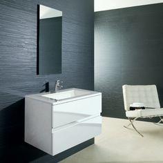 "Porcelanosa vanity - great dimensions: 25 5/8"" long x  17 3/4"" deep x 18 7/8"" high"