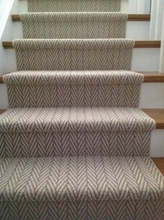 Tuftex Carpet For A Contemporary Staircase With A White