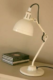 "This lamp can talk, not much though, only ""Buy me, buy me, buy me!"""