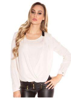 Chiffon-Bluse von agfashion.de Chiffon, Blouse, Long Sleeve, Sleeves, Fashion, Fashion Styles, Silk Fabric, Moda, Long Dress Patterns