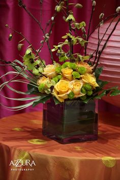Pussy Willow Centerpieces 81