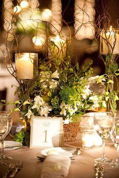 Best Wedding Reception Decoration Supplies - My Savvy Wedding Decor Woodland Theme Wedding, Wedding Themes, Wedding Decorations, Wedding Ideas, Wedding Inspiration, Table Decorations, Trendy Wedding, Moss Wedding Decor, Woodsy Wedding