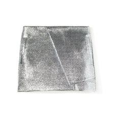 Hypnotica Wrap Skirt (€590) ❤ liked on Polyvore featuring skirts, bottoms, metallic, metallic skirt, layered skirt, asymmetrical wrap skirt, slip skirt and asymmetrical skirt