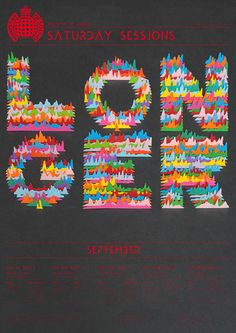 Whoa, #papercut Ministry of Sound, Saturday Sessions by Andrew Bradford, via Behance