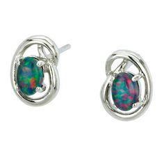 AUSTRALIA OPAL - Opal Earrings (E9100SB), $106.00 (http://www.australiaopal.com.au/opal-earrings-e9100sb/)