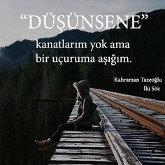 Düşünsene, kanatlarım yok ama bir uçruma aşığım. - Kahraman Tazeoğlu (Kaynak: Instagram - kahramantazeoglu - https://www.instagram.com/p/BfRPoj3lW44/) #sözler #anlamlısözler #güzelsözler #manalısözler #özlüsözler #alıntı #alıntılar #alıntıdır...