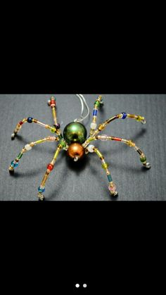 Beaded Spiders, Beaded Animals, Bugs, Insects, Wire, Buttons, Beetles, Bead Animals, Plugs