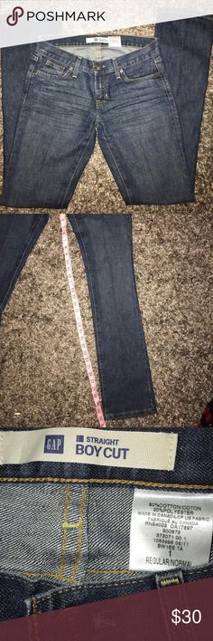 Gap straight boy cut size 1 Regular size 1 great condition EUC WORN ONLY ONCE NO FLAWS GAP Jeans Straight Leg