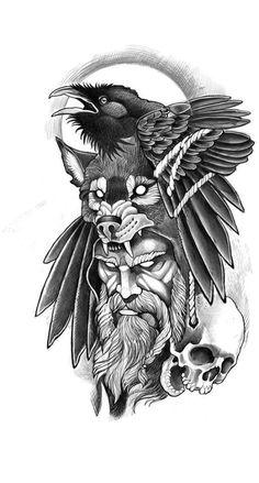 Viking Tattoo Sleeve, Viking Tattoo Symbol, Norse Tattoo, Viking Tattoo Design, Armor Tattoo, Thai Tattoo, Maori Tattoos, Angel Tattoo Designs, Tattoo Sleeve Designs