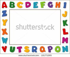 Find Alphabet Frame Bright Letters White Border stock images in HD and millions of other royalty-free stock photos, illustrations and vectors in the Shutterstock collection. Page Borders Design, Border Design, Powerpoint Background Free, Page Boarders, Alphabet, Borders And Frames, Flower Backgrounds, Lettering Design, Fun Learning