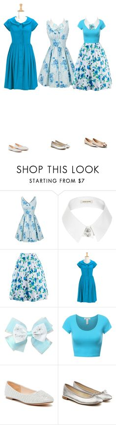 """""""Madeline Outfits"""" by cynthiatorres-ii ❤ liked on Polyvore featuring WithChic, River Island, eShakti, Disney, Lauren Lorraine, Repetto and Butterfly Twists"""
