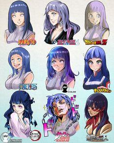 Hinata Hyuga in 9 Manga Styles [by will Draw] by on DeviantArt Naruto Comic, Anime Naruto, Naruto Shippuden Anime, Hinata Hyuga, Boruto, Naruto Girls, Anime Girls, Otaku Anime, Manga Anime