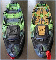 This kit has routed SeaDek logos and two fish rulers. Pedal Fishing Kayak, Crappie Fishing Tips, Fishing 101, Fishing Boats, Fly Fishing, Canoe Camping, Canoe And Kayak, Accessoires Kayak, Jackson Kayak