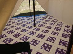 Painted tent floorcloth, this is gorgeous.