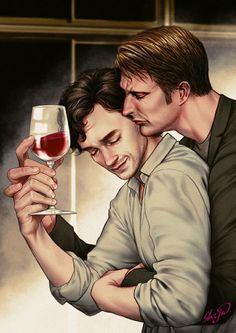 Beautiful Hannibal fanart.
