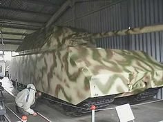 Panzerkampfwagen VIII Maus was a German World War II super-heavy tank completed in late 1944. It is the heaviest fully enclosed armoured fighting vehicle ever built. Only two hulls and one turret were completed before the testing grounds were captured by the advancing Soviet forces