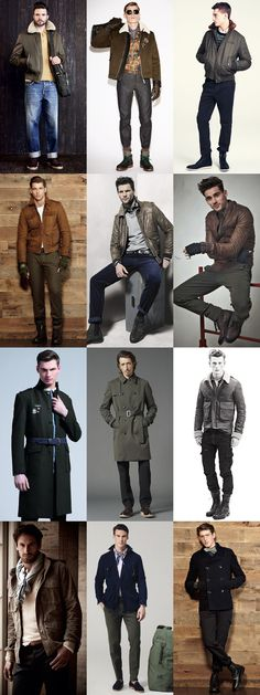 Men's Military Jacket Lookbook