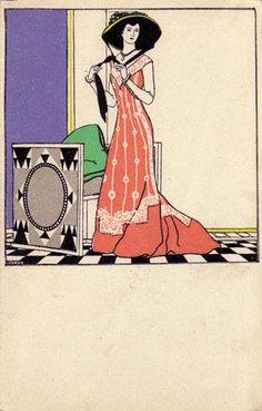 229. Josef Divéky - Wiener Werkstatte postcard