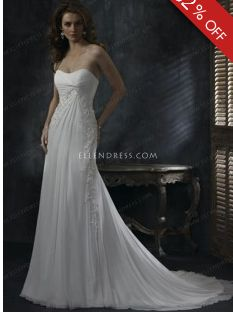 2012 Popular Sheath/Column Straplessu Sleeveless Chiffon Cheap Wedding Dress #USAHSMG013 - See more at: http://www.ellendress.com/wedding-dresses/cheap-wedding-dresses.html#sthash.zkA5chLX.dpuf