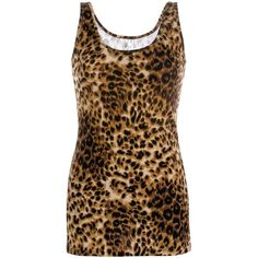 BKE Cheetah Print Tank Top ($18) ❤ liked on Polyvore featuring tops, tank tops, shirts, tanks, brown, low tops, cotton tank, cheetah print shirt, brown shirt and brown tank