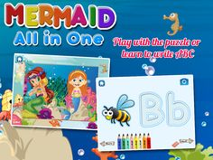 It is an all in one mermaid game for your kids of any age – baby, toddler, preschool, and kindergarten