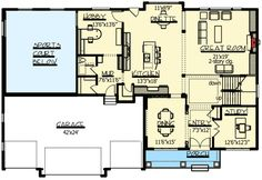 Sports Court and Hobby Room - 73333HS | 2nd Floor Master Suite, Butler Walk-in Pantry, CAD Available, Craftsman, Den-Office-Library-Study, Exclusive, Jack & Jill Bath, Luxury, Media-Game-Home Theater, Northwest, PDF, Photo Gallery, Premium Collection, Sport Court, Traditional | Architectural Designs