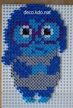 Sadness - Inside Out hama perler beads by Deco.Kdo.Nat - Pattern: https://www.pinterest.com/pin/374291419011012974/