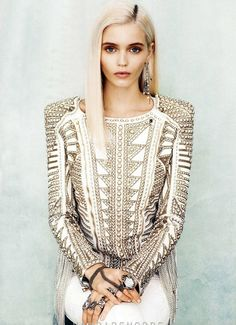 Abbey Lee for US Vogue January 2012 photographed by Norman Jean Roy