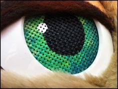 Kitty Fursuit - close up of eye buckram Fursuit Paws, Fursuit Head, Fursuit Tutorial, Animal Costumes, Cat Costumes, Puppet Patterns, Cosplay Diy, Eyes, Costumes
