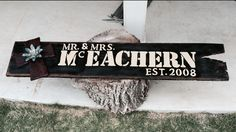 Personalized barn-wood sign