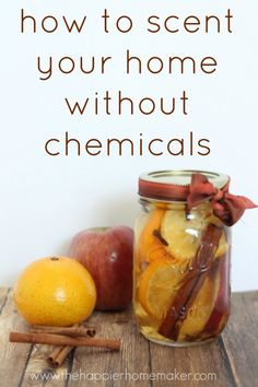 How to Scent Your Home Without Using Harmful Chemicals. This is a super simple way to scent your home without the chemicals of sprays and store bought fragrances.  And hey, you can also make it as a gift!
