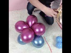 How to do a balloon bouquet so easy Balloon Pillars, Balloon Arch Diy, Balloon Decorations Party, Balloon Bouquet, Balloon Garland, Small Balloons, 5 Balloons, Number Balloons, Graduation Balloons