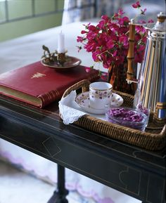 love a tray table for the bed   this looks like such a lovely way to spend some time.