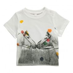 Chuckle Polka Dot Horses T-Shirt White  Stella McCartney Kids