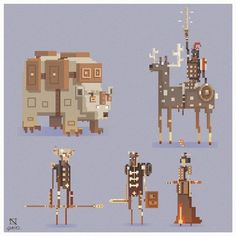 Detailed pixel art