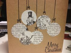 Xmas card idea - use copies of stories, cut, paste, draw
