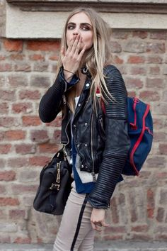 #street #style // #CaraDelevingne- love everything!!!! Great layering and mixing of layers.