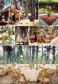 in the woods wedding.