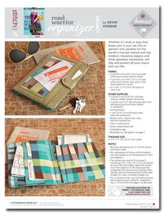 Free Project: Road Warrior Organizer - Sew Daily