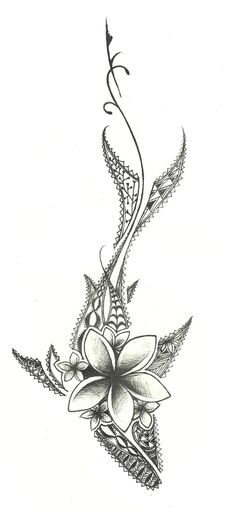 this is a drawing design i did for a tattoo! its a shark with traditional polynesian designs. and yea some flowers. Hai Tattoos, Makeup Tattoos, Love Tattoos, Beautiful Tattoos, Body Art Tattoos, Small Tattoos, Tatoos, Verse Tattoos, Design Tattoos