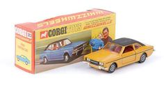 "Mettoy Corgi diecast No.313 Ford Cortina GXL ""Graham Hill"" 1970-73 Promotional German Export version"